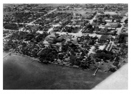 Aerial View Dixie Hotel and Bayview School