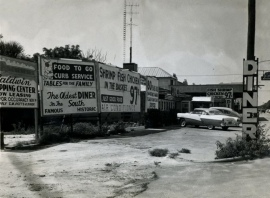 deluxe diner and signs