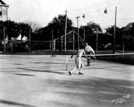 Dixie Hotel tennis courts