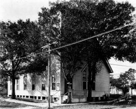 First Presbyterian Church sw corner of Hopkins & Pine
